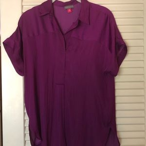 Vince Camuto- purple small - satin blouse